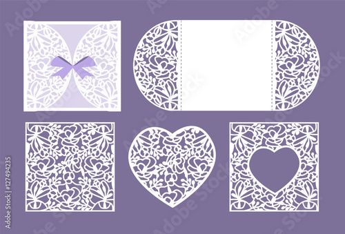 Vector heart paper cutting. White heart made of paper. Laser cut ...