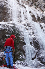 ice climbing in the Alps