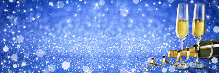 new year toast champagne banner blue background stock photo and royalty free images on fotoliacom pic 127498081