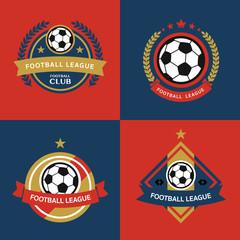 Set of Soccer Football Badge,vector illustration