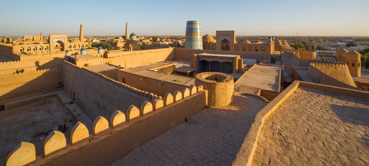 View of the old town of Khiva, in Uzbekistan.