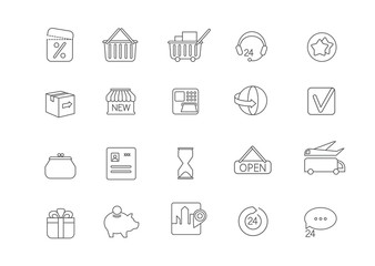 Simple icon set for all kind of internet shopping,paying on-line