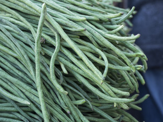 Long String Beans in a Chinatown Market