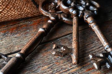 Antique Keys Close Up