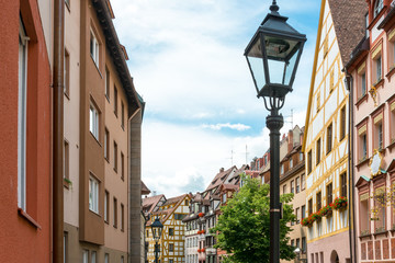 Traditional Street view of Nuremberg Cityscape, It is the second