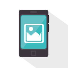 smartphone picture app media design vector illustration eps 10