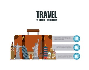 infographic presentation of iconic monuments of the world. colorful design. vector illustration