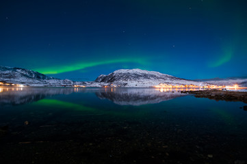 Nothern lights, winter, Norway.