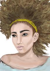 digital portrait of girl