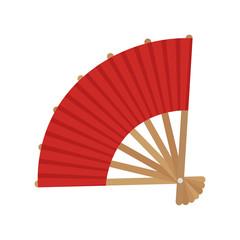 japanese fan isolated icon vector illustration design