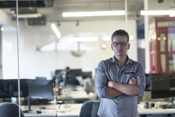 business man at modern  office