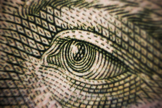 money banknote macro closeup shot eyes of Ukraine famous people value cash exchange