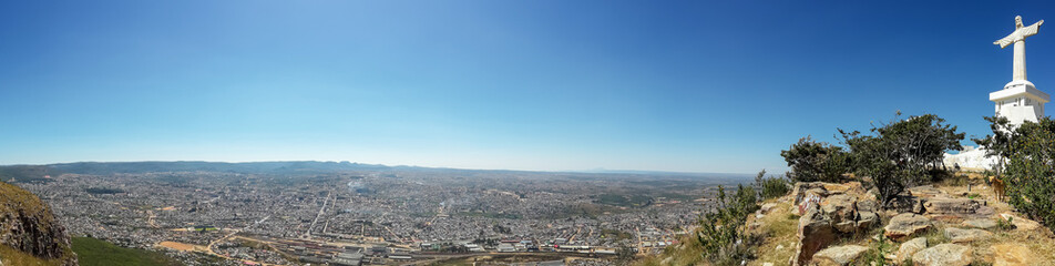 Panorama of Christ the Redeemer or Christo Redentor statue in Lubango, Angola