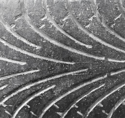 tire tread as background