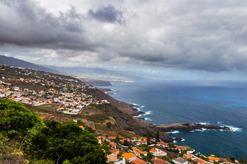 Aerial view of the north coast of Tenerife, Canary Islands, Spain