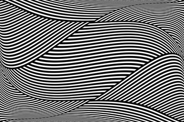 Op art wavy lines pattern. Abstract background.