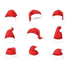Santa christmas hat  illustration.