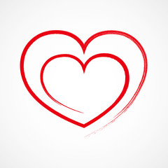 Heart outline icon. Vector illustration.