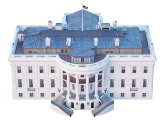 Wall Mural - White House Aerial View South