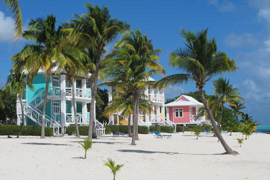 Colourful beach houses
