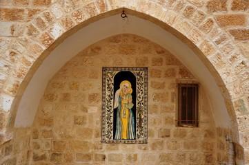 Jerusalem - Wandgemälde im Vorhof der Jakobus-Kathedrale