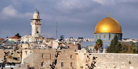 Jerusalem - Altstadt mit der goldenen Kuppel des Felsendoms