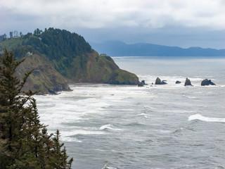 Overcast Oceanside View