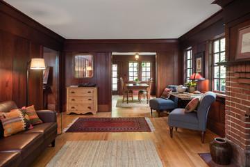 Wooden Retro Living Room Interior Design Furniture.