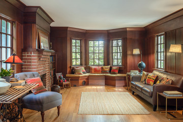 Wooden Retro Living Room Interior Design Furniture