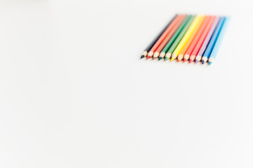 Color pencils directed to empty space