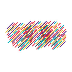 background with colorful diagonal lines model three vector illustration