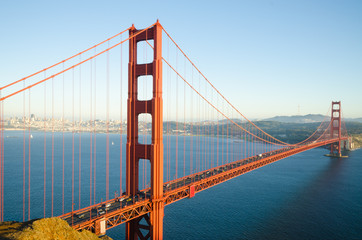 Golden Gate Bridge in San Francisco California in the morning