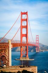 Golden Gate Bridge in San Francisco California in the morning