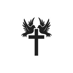 Cross and Pigeon Logo