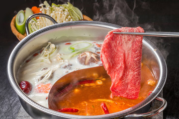 中華火鍋と専用鍋 Chinese hotpot and exclusive pan