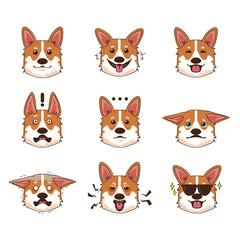 Corgi Dog Emoji Emoticon Expression
