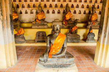 The Buddha image in Vientiane Laos PDR