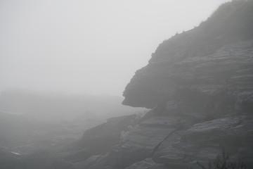 Rocky Coast in Fog