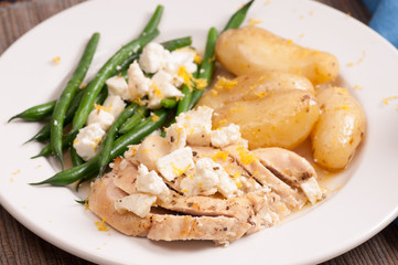 greek lemon chicken with fingerling potatoes