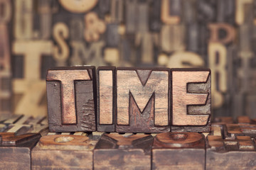 wooden TIME concept