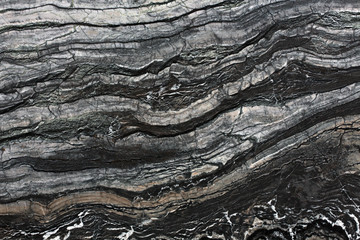 Canvas Prints Image of black marble texture.