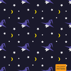 Halloween background seamless pattern, cartoon vector.