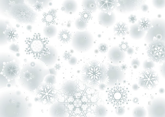 White background winter seasonal snowflake