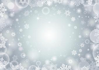 Winter snowflake background