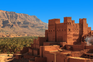 Kasbahs in the Draa valley.