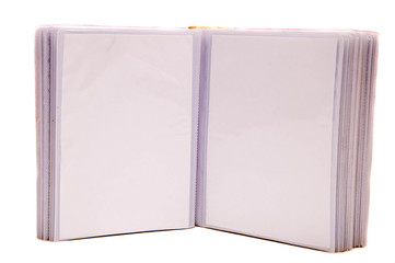 Photo album on a white background.
