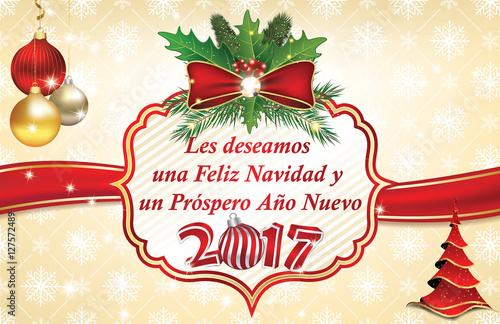 Les deseamos feliz navidad y feliz a o nuevo tarjeta de - Dedicatorias para navidad y ano nuevo ...