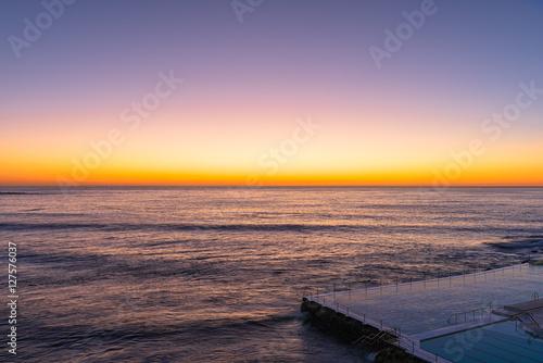 Sunrise on the Bondi Beach Sydney Australia