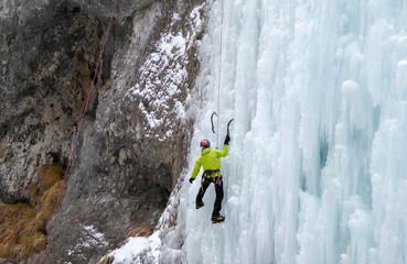 ice climbing in the Italian Dolomites