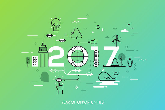 Infographic concept 2017 year of opportunities